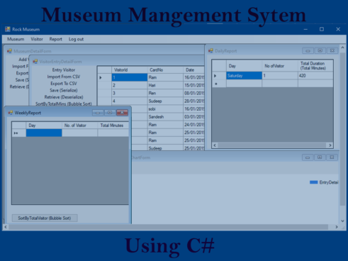 Museum Management System in C# with Source Code