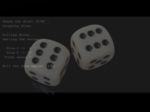 Roll a dice game in python with Source code