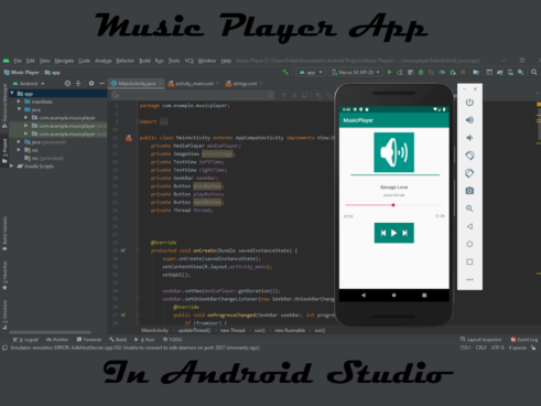 Music player android app in java with Source code