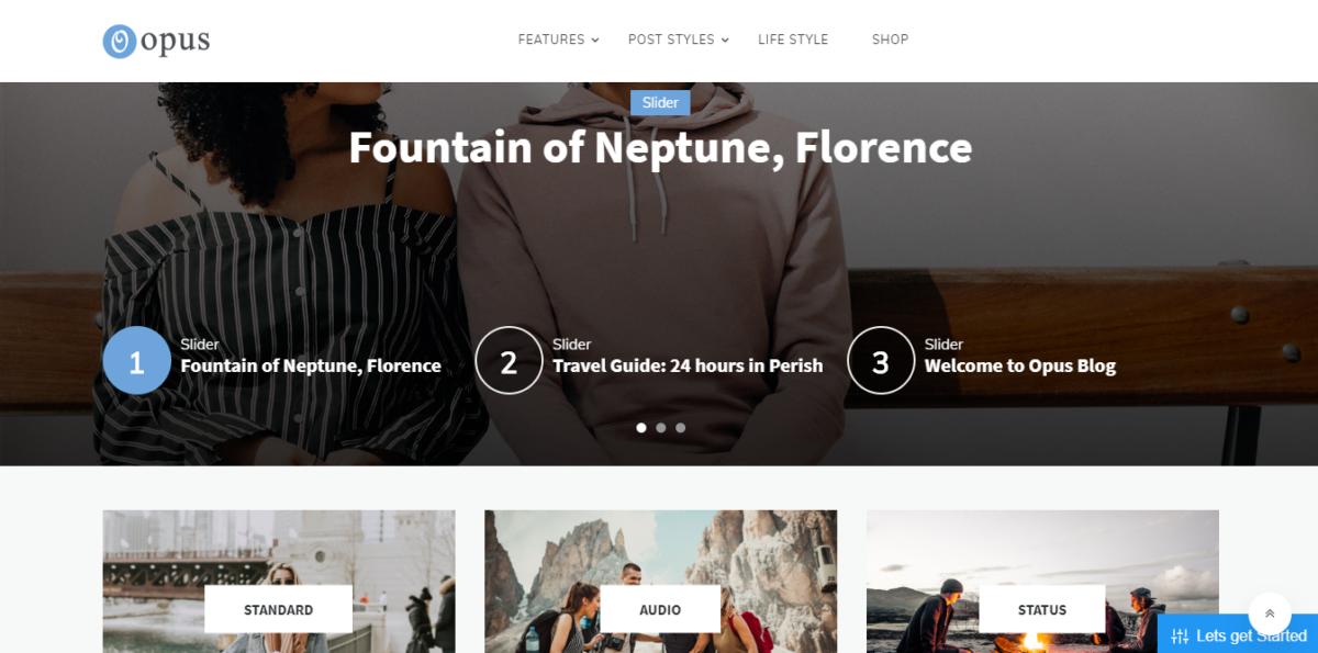 Blogging themes- opus