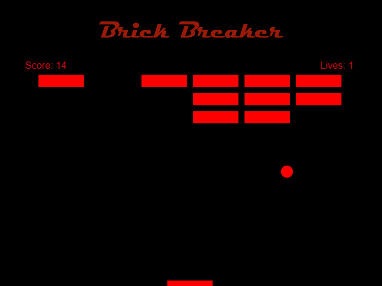 Brick breaker game in JavaScript with Source code