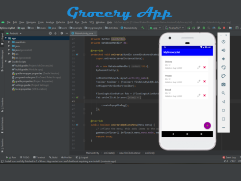 Grocery android app in java with Source code