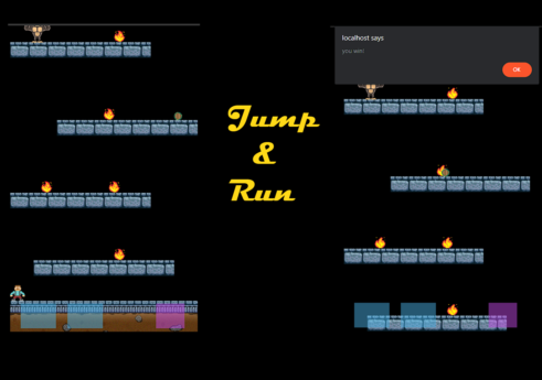 Jump and Run game in JavaScript with Source code