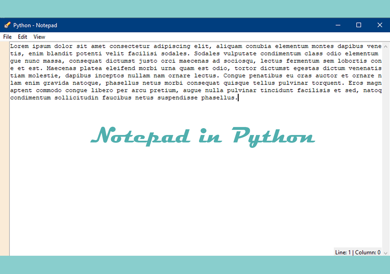 Notepad using Tkinter in Python with Source code