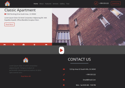Renters frontend site with Source code