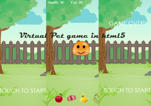 Virtual pet game in HTML5 with Source code