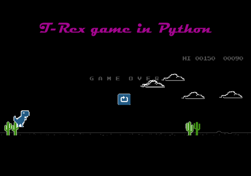 T-Rex game in Python with Source code