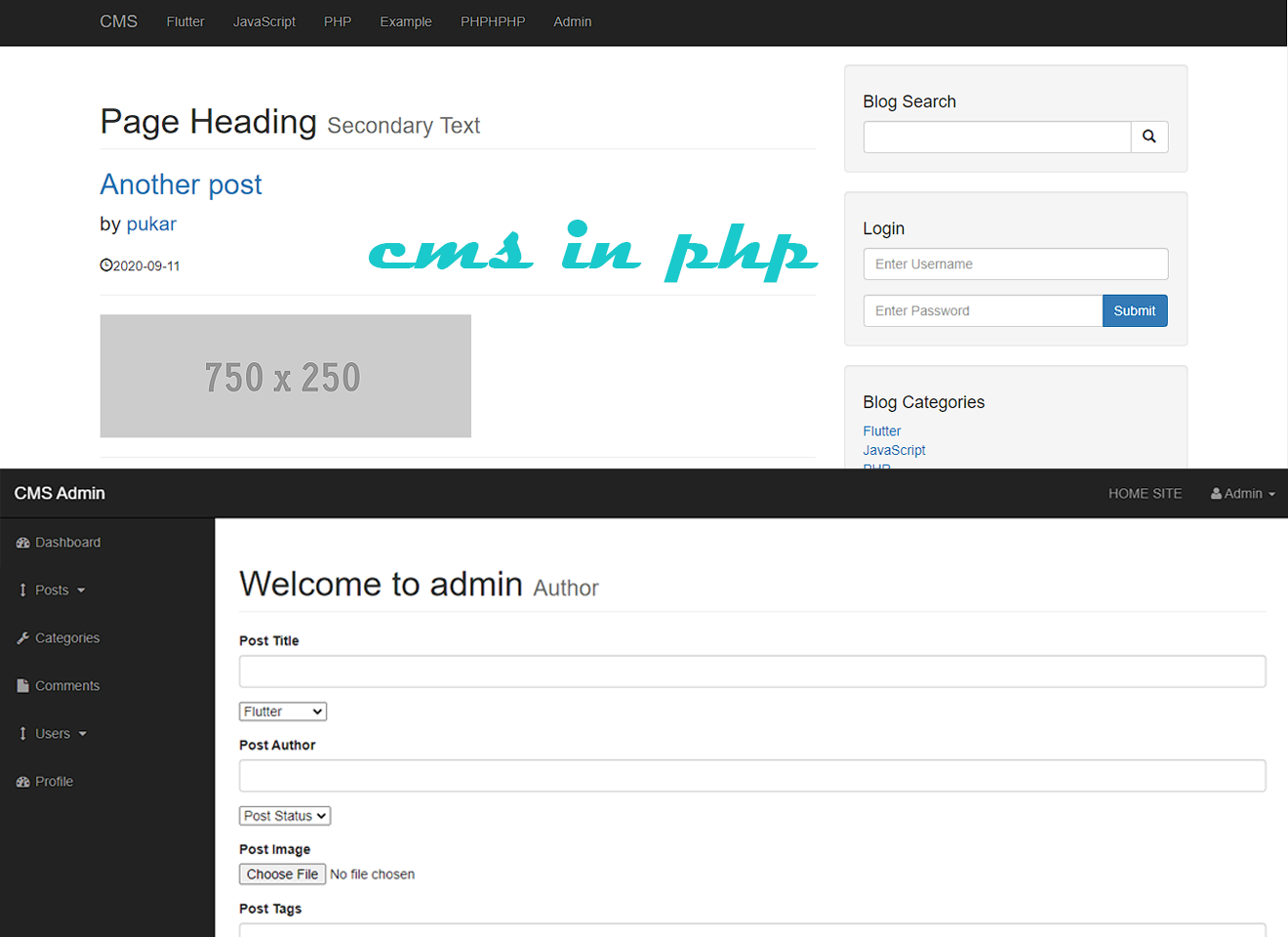 Content Management System in PHP with Source code