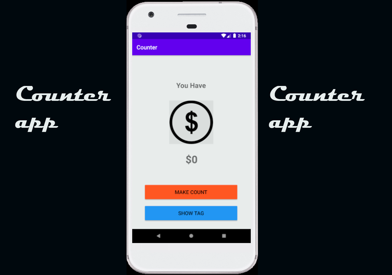 Counter app in Android with Source code