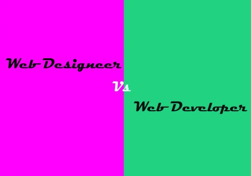 Web designers and Web developers. What is difference?