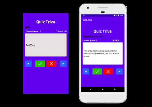Quiz trivia android app with Source code