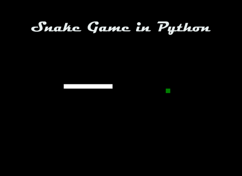 Snake game in Python with Source code