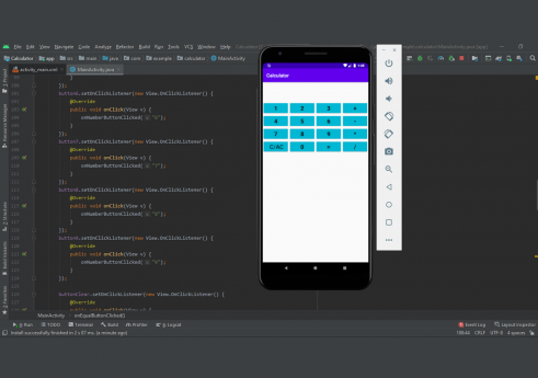 Calculator app in android with Source code