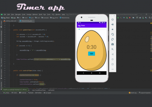 Egg timer android app in Java with Source code