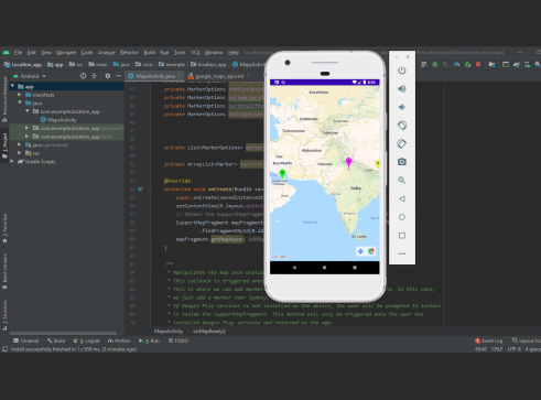 Location app in android with Source code