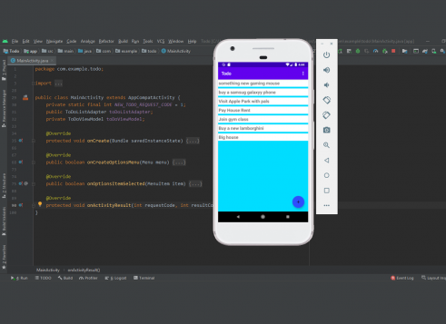 Todo android app in Java with Source code