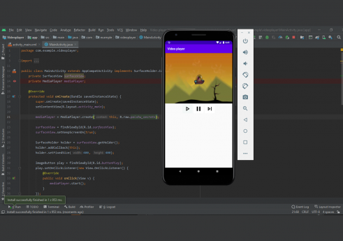 Video player app in android with Source code