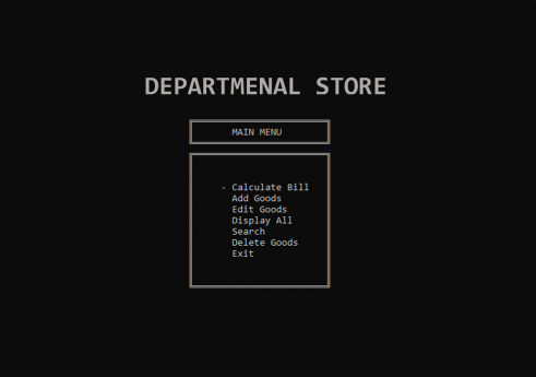 Department Management System in C with Source code
