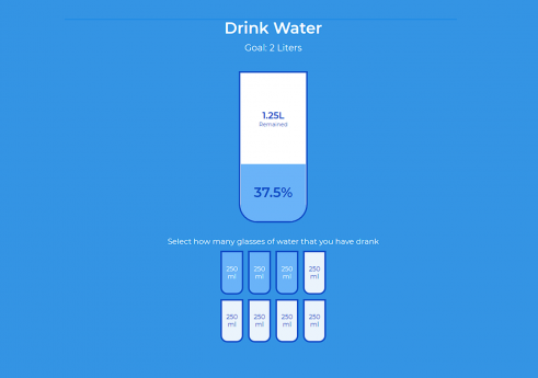 Drink water in JavaScript with Source code