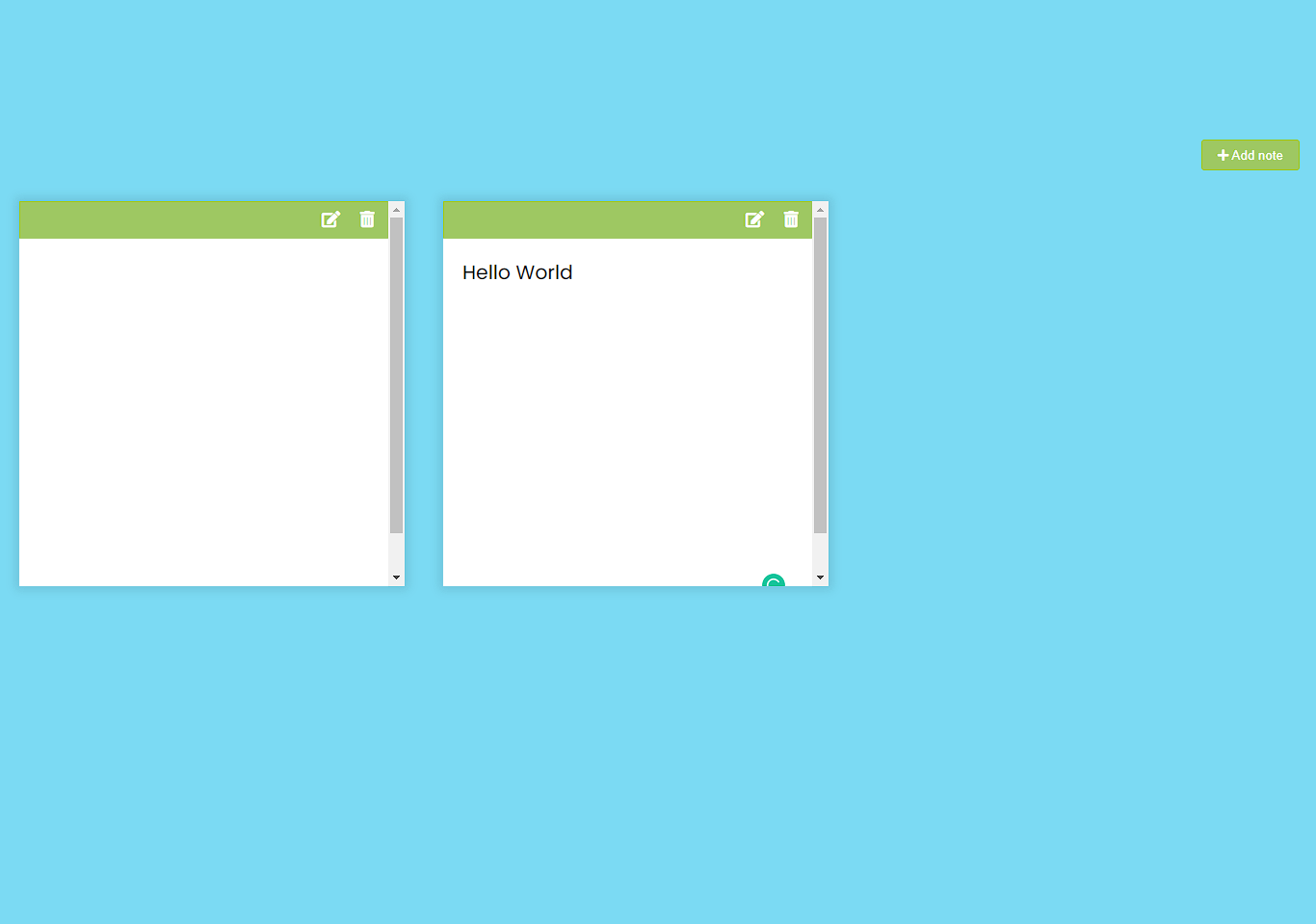Note app in JavaScript with Source code