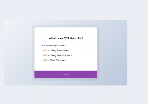 Quiz app in JavaScript with Source code