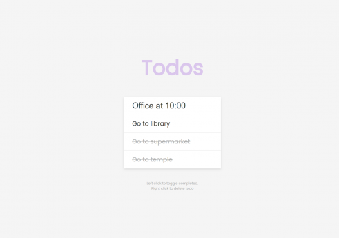 Todos in JavaScript with Source code