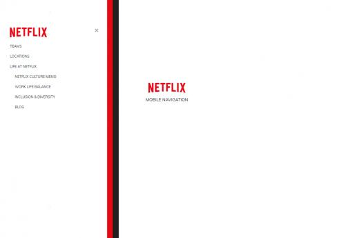 Netflix mobile nav in JavaScript with Source code