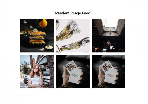 Random image feed in JavaScript with Source code