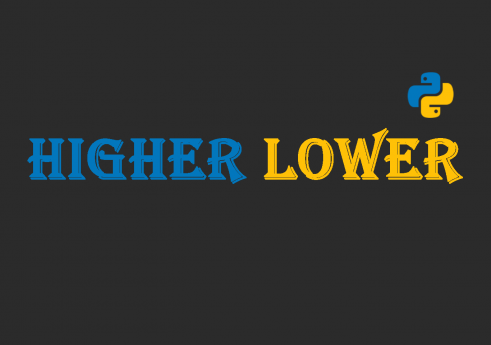 Higher lower game in python with Source code