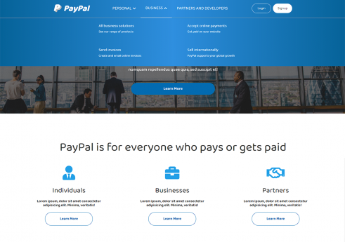 Paypal frontend site with source code
