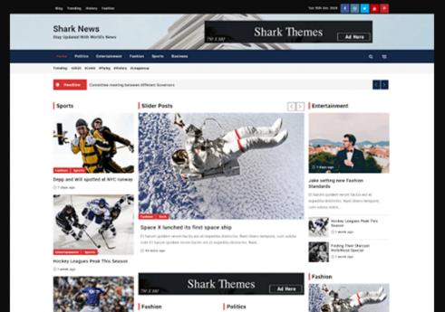 Shark news WordPress Theme