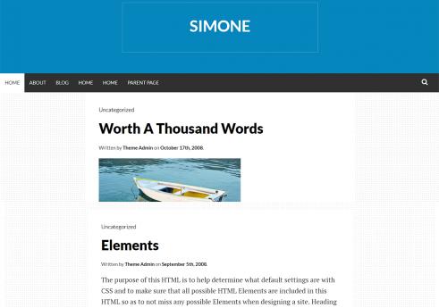 Simone WordPress Theme