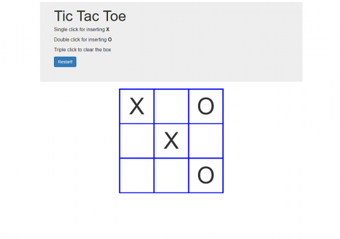 Tic tac toe game in JavaScript with source code