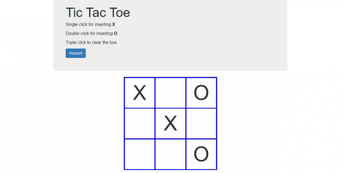 Tic tac toe game - img1